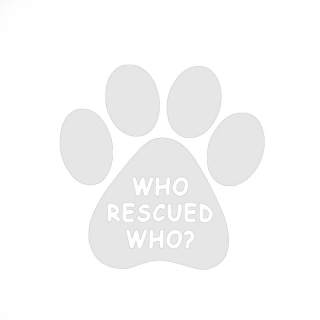 """Who rescued who"" - Samolepka"
